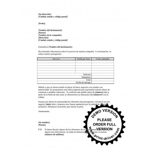 Plantillas y Modelos > Cartas comerciales a clientes - Word